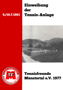 """Sonderheft """"Einweihung der Tennis-Anlage"""""""
